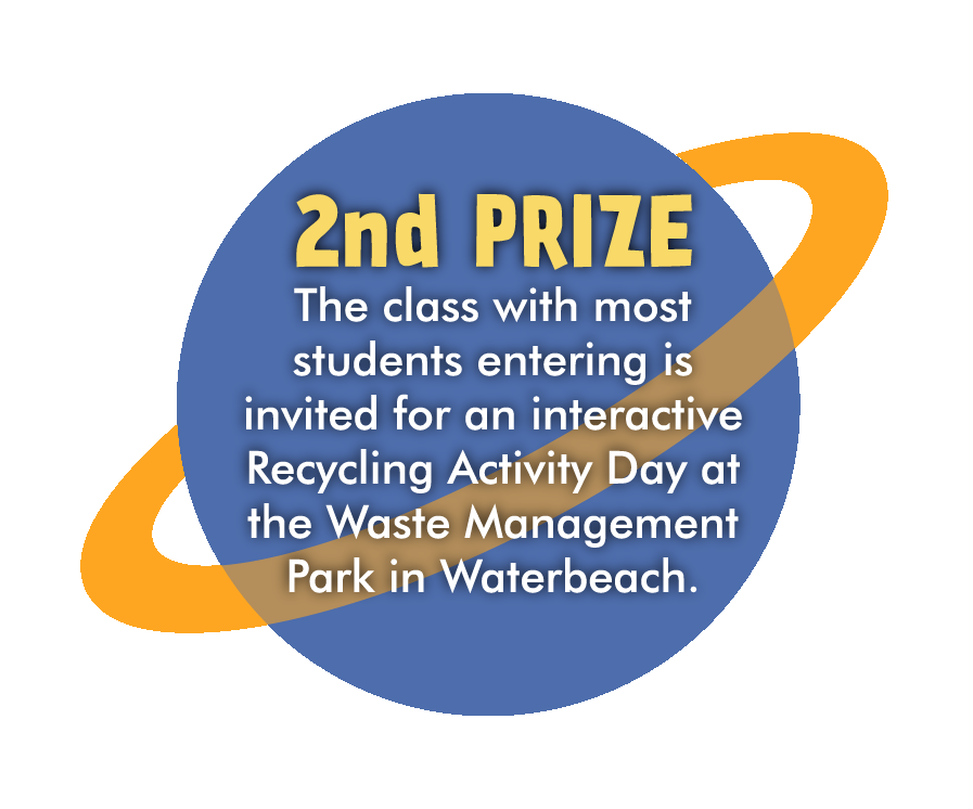 2nd prize - the class with most students entering is invited for an interactive Recycling Activity Day at the Waste Management Park in Waterbeach.